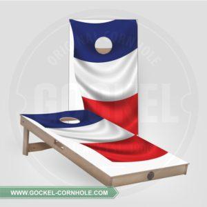 2 Cornhole boarden met Franse vlag om op elk feest te spelen!