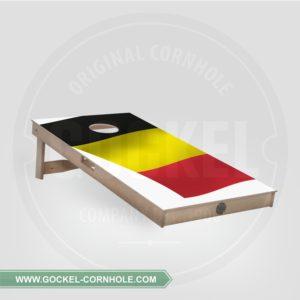 Cornhole board met een Belgische vlag om op elk feest te spelen!