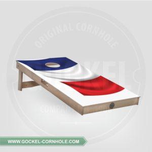 Cornhole board met een Franse vlag om op elk feest te spelen!