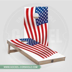 2 Cornhole boarden met Amerikaanse vlag om op elk feest te spelen!