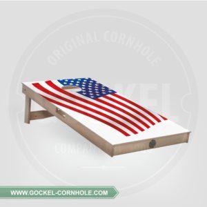 Cornhole board met Amerikaanse vlag om op elk feest te spelen!