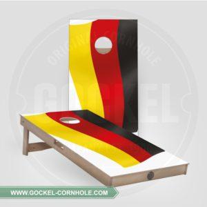 2 Cornhole boarden met Duitse vlag om op elk feest te spelen!