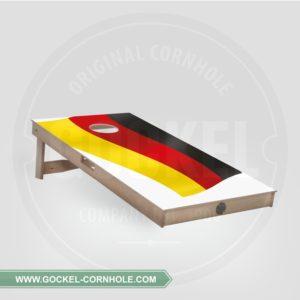 Cornhole board met een Duitse vlag om op elk feest te spelen!