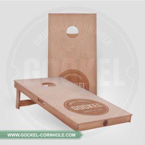 2 Cornhole Boarden, geolied en met gebrandmerkt GOCKEL logo!