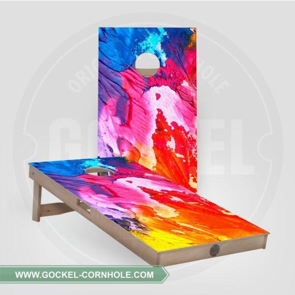 Set - Cornhole boarden met abstracte print!