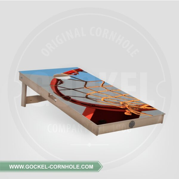 Single - Cornhole Board basketbal print!