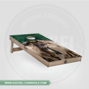 Cornhole board - paarden