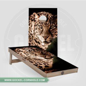 Set - Cornhole boarden met luipaard!