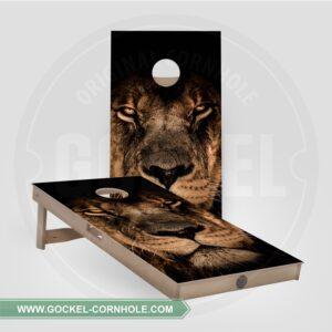 Set - Cornhole boarden met leeuw!