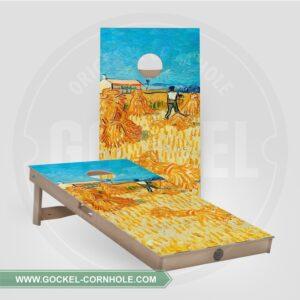 Set - Cornhole boarden met de oogst-print van Vincent van Gogh!