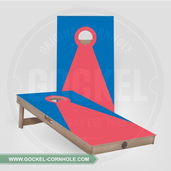 Set - Cornhole boarden met een blauw rode piramide!