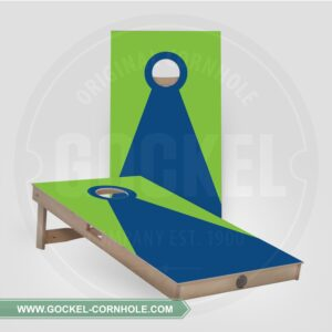 Set - Cornhole boarden met een groen blauwe piramide!