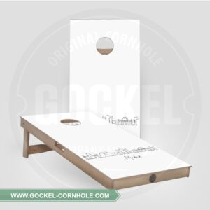 Set - Cornhole boarden met de skyline van Madrid!