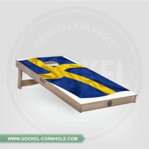 Cornhole board - Zweedse vlag
